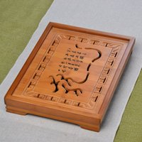 Cheap 33*25*5cm drawer type bamboo chinese kung fu tea tray exquisite household tea board