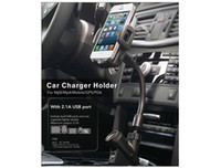 Wholesale 2015 newest Universal Degree mobile cell phone Car holder USB Port Charger Port A cigarette lighter DHL Free