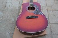 chibson - 2015 nouvelle usine de HS Chibson Hummingbird guitare acoustique Hummingbird guitare acoustique double losange incrustations