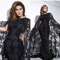 Wholesale Zuhair Murad Evening Dresses Vintage Mermaid with Cloak Beading Sequins Tulle Sweep Train Plus Size Formal Occasion Dresses Prom Gowns