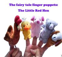 Wholesale 2016 new little red hen cute children plush toys fairy tale finger puppets set set