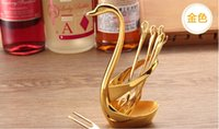 best fruits fashion - Best Wift Gift Romantic Home Daily Use Fashion Fruit Fork amp Spoon Swan Design Fork or Spoon Promotional Sale XSZ002