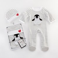 Wholesale Penguin Layette Gift Set footie onesie cap