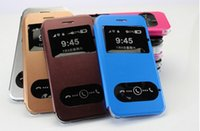 windows mobile - Flip Cover View Window mobile phone leather case for iphone quot plus quot