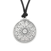 antique mercury - My Shape Religious Jewelry Series Antique Silver Pentacle of the Mercury Talisman Necklaces for Man and Woman