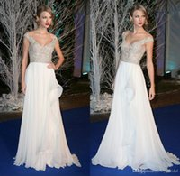 Cheap Elie Saab Long Evening Dresses Illusion Neck Celebrity Dresses Formal Pageant Sexy See Through Long Prom Dresses Gowns