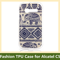 alcatel tribe - Fashion Tribe Animal Elephant Owl Bear Cat Flower Wind Chime Soft Gel TPU Cover Case for Alcatel One Touch Pop C5 Drop Shipping