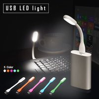 Wholesale hot sell Xiaomi Portable USB LED Light Flexible Silicone V A Color USB Lamp For Power Bank Computer