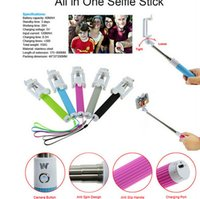 Wholesale 2015 New All in One Bluetooth Monopod Mini Collapsable Mobile Selfie Kit for iPhone IOS Samsung Android Smart Phone