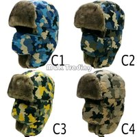Wholesale Russian Ear Flap Hat Fashion Camouflage City Hunter Same Checkered Jacquard Trapper Bomber Cap Hat Windproof Colors