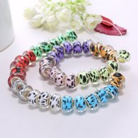 plastic beads - RINHOO Murano Glass Beads Chinese Style Multi color Charm Loose Beads Jewelry Fit DIY Bracelet lampwork glass Beads