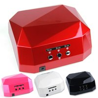 best es - Nail Art Lamp Care Machine CCFL W LED Light Diamond Shaped Best Curing Nail Dryer for UV Gel Nail Polish ES Plug