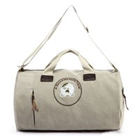1400A duffel bag - Happy Owl Studio oZ High Density Canvas Durable Fabric Shoulder Travel Duffel Large Duffel Hand Bag A