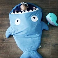 Wholesale 2015 Hot Factory Sale Fast Delivery Shark Style Cotton Baby Sleeping Bag Newborn Infant Children Blanket Swaddle Baby Sleep Sack