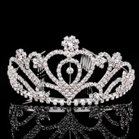 band shows - The new fashion show hair band type big crown Europe and the United States diamond jewelry bride wedding banquet headdress Beauty crown