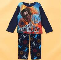 pajamas for children - Star Wars Stormtrooper Children Autumn Winter pajamas a Star Wars Pattern nightclothes for children Star Wars supplies