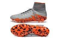Wholesale New arrived HyperVenom top quality FG soccer shoes ACC sign Hypervenom Phantom II FG drop shipping size