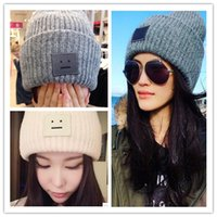 Wholesale Beanie Cap winter pc Spike stars with box face wool hats lady men winter lovers thick ladies Hat