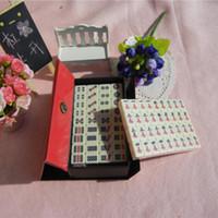 Wholesale M001 mm Mini Mahjong Mah jong Mah jongg Mah jong Games Carved Tile in fabric case with Acrylic tiles