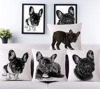 big pillow chair - Cute Lovely Pug Dogs Big Face Pattern Print Custom Home Decorative Throw Pillow covers almofadas decorattions bulldog sofa chair cushion