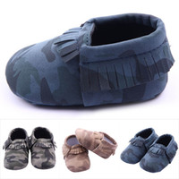 best toddler slippers - Best selling pair Baby Girls Boys Camouflage Crib Shoes Toddler Tassel Soft Slippers Shoes M