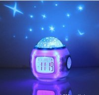 alarm stage - Star Light Lamp Light Up Gift Alarm Clock Table Lamp Lampshade Touch Table Lamp Se Lights Projection Lamps