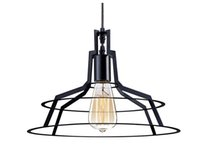 CE barns design - New design Loft Countryside Barn Pendant Lights Dia Inch American Countryside Metal Wire Vintage Edison Pendant Lamp Fixtures For Indoor