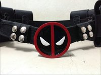 Wholesale Hot New Deadpool Cosplay Belt BUCKLE Corset Accessories Straps Backpack Costume