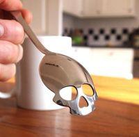 Wholesale 150PCS HHA193 SUCK UK Sugar Skull Tea Spoon stainless steel coffee Spoon funny Spoon party Halloween Christmas gift