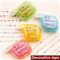 Wholesale 4 decorative tape Masking tapes DIY scrapbooking Correction tape for letter diary stationery School supplies