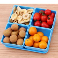 aluminum serving trays - bandeja decorativa serving tray fruit bowl cm practical blue fruit snacks bowls Fruit plate cooking tools