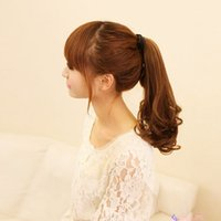 Wholesale New Hot Long Wavy Curly Lace up Ponytail Hair Extension Wrap Around Tie