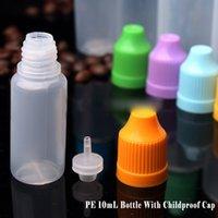 al por mayor botella neddle-PE cuentagotas Botella 5 ml 10ml 15ml 20ml 30ml / PET plástico Neddle vacío E Líquido Botella Botella de aceite Childrenproof Cap Thin Consejos largo 500pcs
