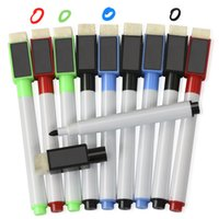 board eraser with marker - 8 Magnetic Dry Wipe White Board Markers Pens with Built in Dry Erase Eraser Set