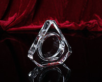 Wholesale New white K9 crystal ashtrays commodity hotel supplies crystal gifts crystal crafts