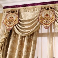 Wholesale Stephen brand Roland Jacquard curtains living room European style high grade imported soluble embroidery