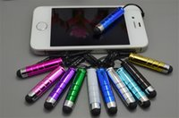 audio stylus - Hot Sell New Capacitive Stylus Pen Stretchable Stretch Touch Pen with Audio Anti dust Plug for iPhone iPad Samsung Xiaomi