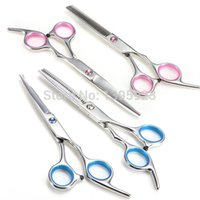 Wholesale Pro Salon set Regular Thinning Pink Colors Scissors Barber Scissors Hairdressing Tool cut teeth cut flat