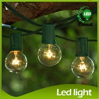 light bulb string lights - Bulb String Decro Ft Clear Globe G40 String Light Set with G40 Bulbs Included Patio Lights Patio String Lights G40 Bulb String