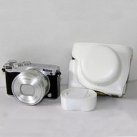 Wholesale White Camera Leather case bag cover pouch for Nikon J5 J5 mm lens With Strap White