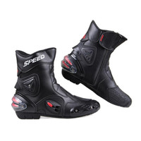 motocross boot - Motorcycle short Boots Pro biker SPEED Moto Racing Motocross Motorbike Shoes Black White Red size