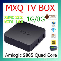 Wholesale MXQ TV BOX Amlogic S805 Mini PC Quad Core Android Kitkat K HDMI H GB GB KODI WIFI Airplay Miracast D cheaper than MXQ PRO