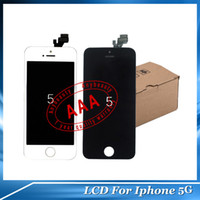 LCD Screen Panels cell phone display - Glass Touch Cell Phone Display Repair Part LCD Frame For iPhone G White and Black