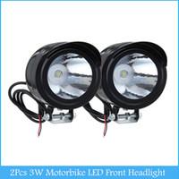 Wholesale Universal W Led Motor Spot Light Motorbike LED Front Headlight Head Lamp Motorcycle Lightng source C386