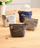 Wholesale 2015 new retro small universe canvas bag coin purse keychain key wallet coin pocket