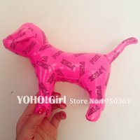 achat en gros de wholesale stuffed dogs pink-Gros-Mignon Marque expédition VS Florescent Pink Dog Toy.PINK Peluches Toys.Fashion Accessories.Animal dolls.Chic Decoration.Free