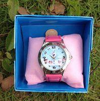 Singapur envío libre de poste chicos Anna niños niñas relojes de pulsera de los niños al azar patrón de regalo con funcle026 caja al por menor