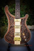 ash bass - Custom Shop neck through Ash Body carved Strings Electric Bass Guitar R bass guitar Gold Hardware