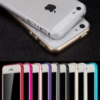 Wholesale New Ultra Slim Luxury Metal Frame And Gold Bumper Phone Case Cover For iPhone