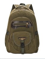 canvas backpacks - Europe and the United States men canvas backpack backpack fashion tide restoring ancient ways